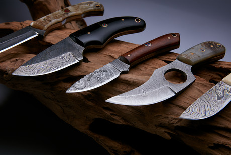 Rugged Damascus Steel Knives