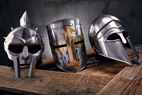 Ancient Armor-Inspired Helmets