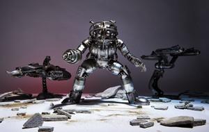 Handcrafted Metal Sci Fi Sculptures