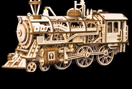 The Wooden Mechanical Train
