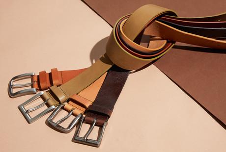 Single Ply Leather Belts