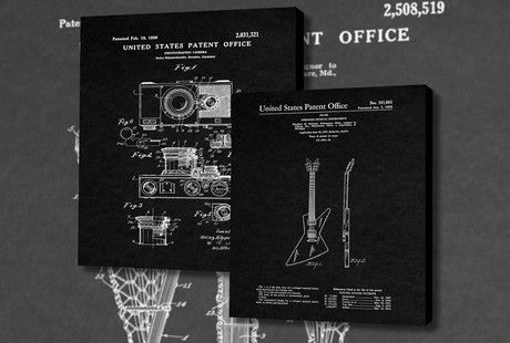 Art Prints From Real Patents