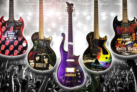 Real Guitars, Autographed By Legends