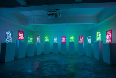 Neon Rap Portraits