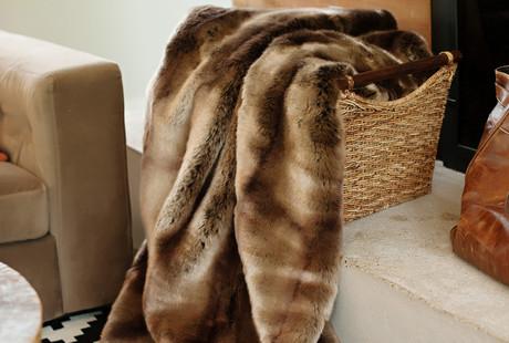 Faux Fur Blankets + Throw Pillows
