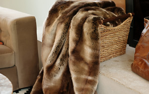 Faux Fur Blankets + Throw Pillows