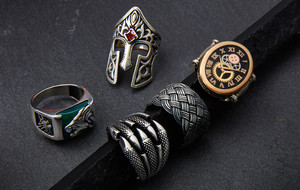 Jeweled + Sterling Silver Rings