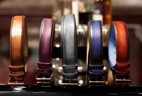 Hand-Painted Leather Belts
