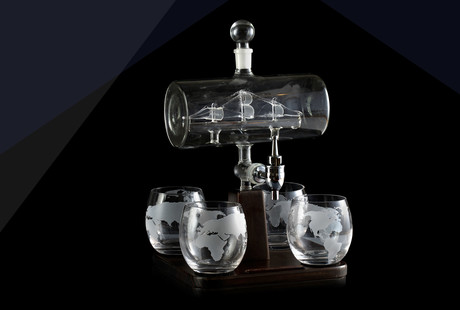 Handcrafted Decanters + Glasses