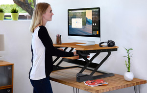 Sit Stand + Wall Mounted Desks