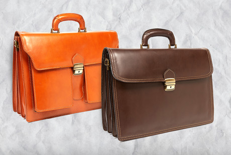 Italian Leather Briefcases + Bags