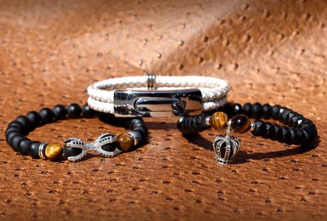 Regal Beaded Bracelets + Necklaces