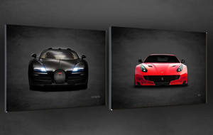 Classic Sports Cars On Canvas