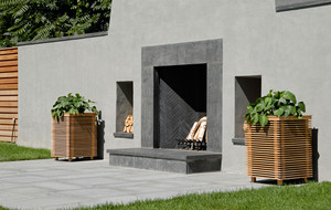 Seamless Outdoor Speaker Planters