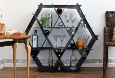 Strong + Simple Geometric Shelving
