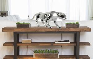 Chrome + Steel Sculpture