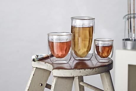 Futuristic Double-Walled Glasses