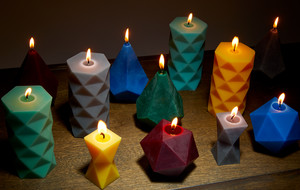 3D Printed Beeswax Candles