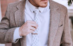 Fashionable, Liquid-Repelling Ties