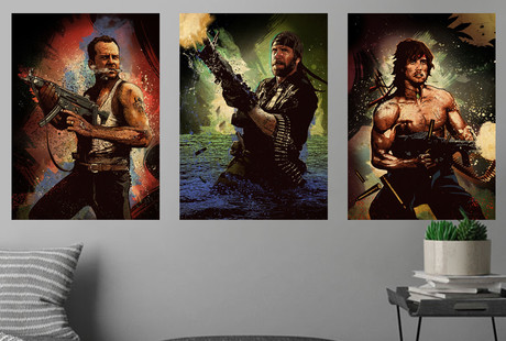 Action Packed Metal Wall Art
