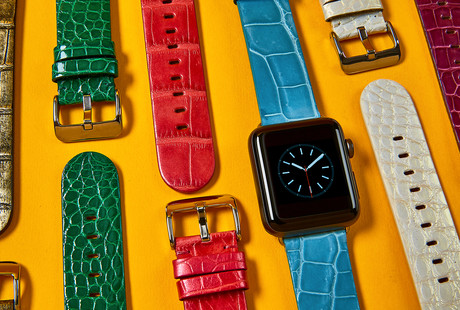 Exotic Leather Apple Watch Straps
