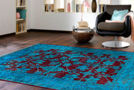 Traditional Overdyed Area Rugs