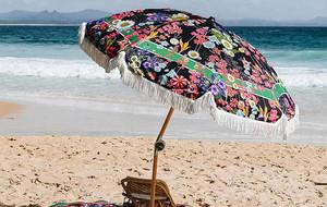 Elegant Beach Sunbrellas