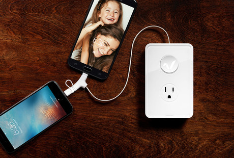 Retractable Charger + Outlet