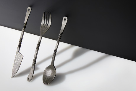 Medieval Damascus Cutlery