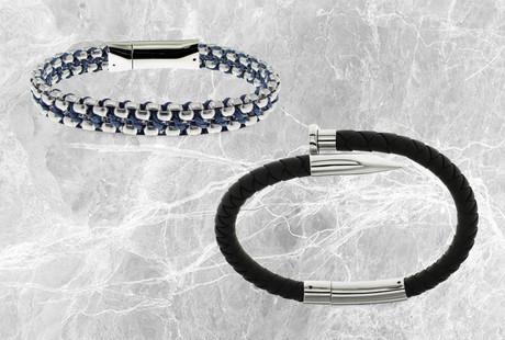 Exotic Leather + Metal Jewelry