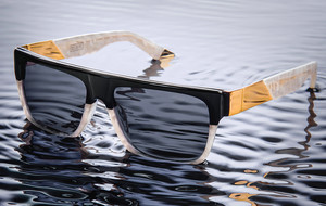 24K Gold & Marble Sunglasses