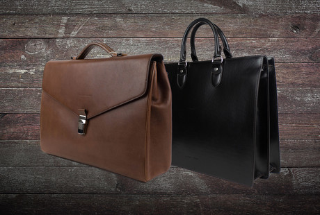 Luxurious Leather Business Bags