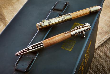 Bourbon Barrel Bolt Action Pens