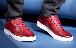Style-Savvy Leather Sneakers