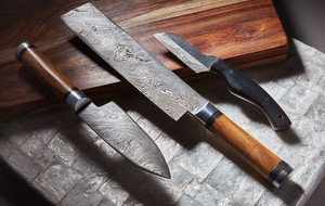 Damascus Kitchen & Hunting Knives