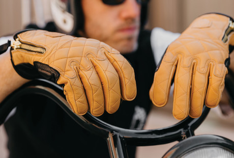 Retro-Moto Leather Gloves