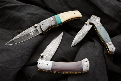 Dapper Damascus Folding Knives