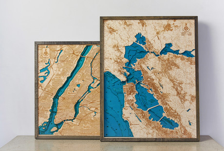 Carved 3D Maps Of Iconic Locales