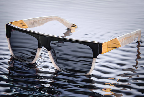 24K Gold and Marble Sunglasses