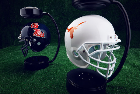 Levitating NCAA Helmets