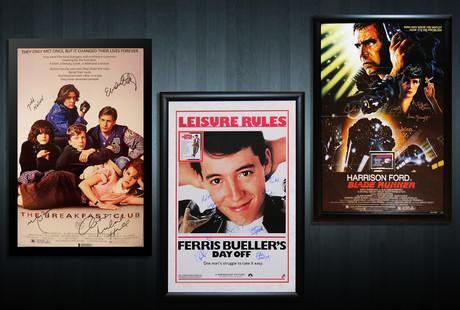 Autographed Music + Movie Displays