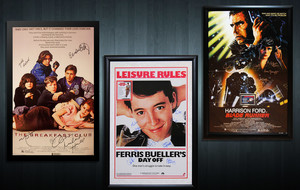 Autographed Music + Movie Displays
