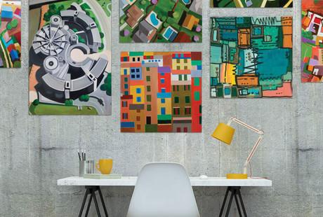 Conceptual Landscapes On Canvas