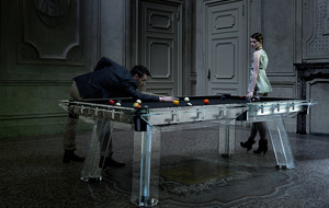 The Luxury Glass Pool Table
