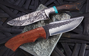 Damascus Knives + Axes