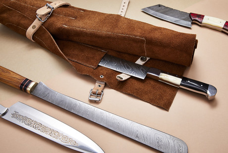 Damascus & J2 Chef Knives