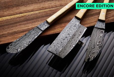 Stunning Damascus Kitchen Knives