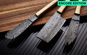 Stunning Damascus Kitchen Knives