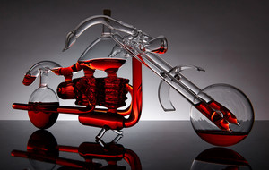 Artisan Glass Decanters + Cruets
