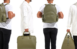 Structured Leather Bags + Backpacks